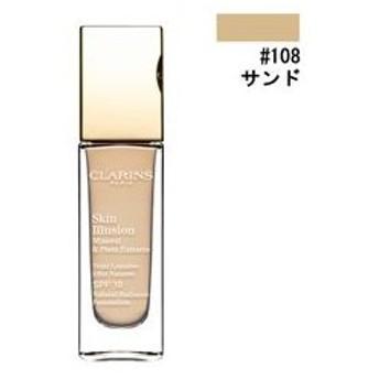 クラランス スキンイリュージョン ファンデーション SPF10 #108 サンド 30ml CLARINS 化粧品 SKIN ILLUSION NATURAL RADIANCE FOUNDATION SPF 10 108 SAND