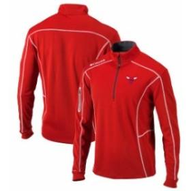 Columbia コロンビア スポーツ用品  Columbia Chicago Bulls Red Omni-Wick Shotgun Quarter-Zip Pullover Jacket