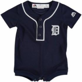 Majestic マジェスティック スポーツ用品  Majestic Detroit Tigers Newborn & Infant Navy Fashion Cool Base Romper Jer