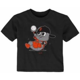 Outerstuff アウタースタッフ スポーツ用品  San Francisco Giants Infant Black Baby Mascot T-Shirt