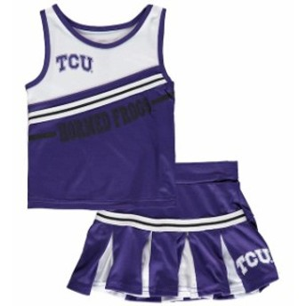 Colosseum コロセウム スポーツ用品 Colosseum TCU Horned Frogs Girls Toddler Purple Curling Cheer Set