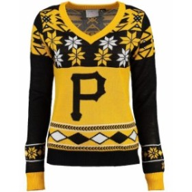 Klew クルー 服 スウェット Klew Pittsburgh Pirates Womens Black V-Neck Ugly Sweater