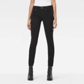 gstar ジースター ファッション 女性用ウェア ズボン gstar midge-zip-mid-waist-skinny-l34