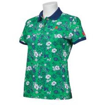 【SALE】Munsingwear(マンシングウェア)ボタニカル柄クーリスト半袖シャツ(19SS)MGWNJA11※返品交換不可※