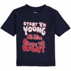 New Agenda ニュー アジェンダ スポーツ用品  Mississippi Rebels Infant Start Em Young T-Shirt - Navy Blue