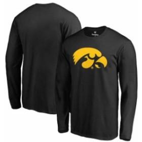 Fanatics Branded ファナティクス ブランド スポーツ用品  Iowa Hawkeyes Black Primary Logo Long Sleeve T-Shirt