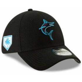 New Era ニュー エラ スポーツ用品  New Era Miami Marlins Black 2019 Spring Training 39THIRTY Flex Hat