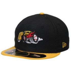 New Era ニュー エラ スポーツ用品  New Era Bowling Green Hot Rods Black/Gold Authentic 59FIFTY Fitted Hat