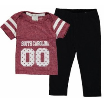 chicka-d チッカ スポーツ用品 South Carolina Gamecocks chicka-d Girls Infant Garnet Boxy Crop Top and Leggings Set