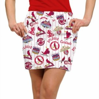 Loudmouth ラウドマウス スポーツ用品 Loudmouth St. Louis Cardinals Womens White Team Skort
