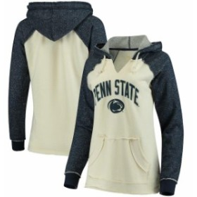 Blue 84 ブルー エイティーフォー スポーツ用品  Blue 84 Penn State Nittany Lions Womens Cream/Navy French Terry R