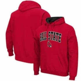 Colosseum コロセウム スポーツ用品  Colosseum Ball State Cardinals Cardinal Arch & Logo Pullover Hoodie