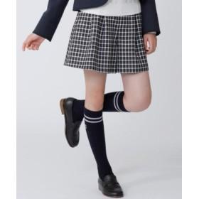 (KUMIKYOKU KIDS/組曲キッズ)【PURETE】T/W綾チェック パンツ/レディース ブラック系3 送料無料