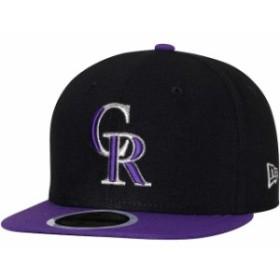 New Era ニュー エラ スポーツ用品  New Era Colorado Rockies Youth Black/Purple Authentic Collection On-Field Alternate