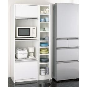 食器に合わせて選べる食器棚 幅35cm奥行42cm高さ180cmホワイト