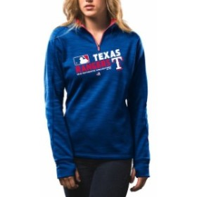 Majestic マジェスティック アウターウェア ジャケット/アウター Majestic Womens Texas Rangers Royal Authent