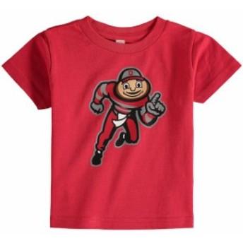 Two Feet Ahead トゥー フィート アヘッド スポーツ用品 Ohio State Buckeyes Toddler Scarlet Big Logo T-Shirt