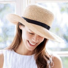 折りたためる ラフィア帽