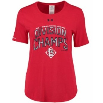Under Armour アンダー アーマー スポーツ用品 Under Armour St. Louis Cardinals Womens Red 2015 Division Champions T