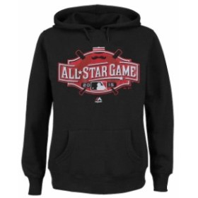 Majestic マジェスティック スポーツ用品  Majestic Womens Black Plus Size 2015 All-Star Game Hoodie