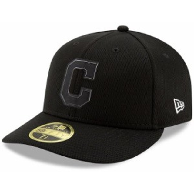 New Era ニュー エラ スポーツ用品  New Era Cleveland Indians Black Clubhouse Collection Low Profile 59FIFTY Fitted Hat