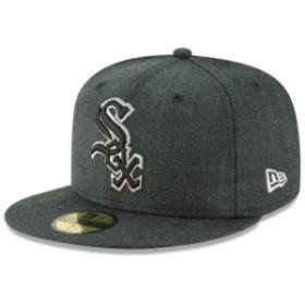 New Era ニュー エラ スポーツ用品  New Era Chicago White Sox Heathered Black Bold 59FIFTY Fitted Hat