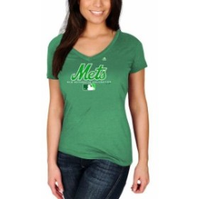 Majestic マジェスティック スポーツ用品  Majestic New York Mets Womens Kelly Green 2018 St. Patricks Day Authentic