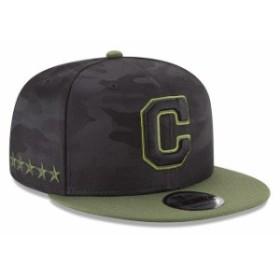 New Era ニュー エラ スポーツ用品  New Era Cleveland Indians Black 2018 Memorial Day 9FIFTY Snapback Adjustable Hat