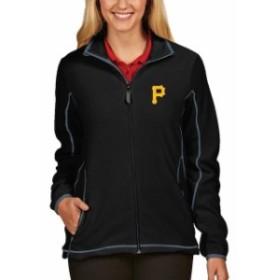 Antigua アンティグア アウターウェア ジャケット/アウター Antigua Pittsburgh Pirates Womens Black Full Zip I