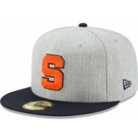 New Era ニュー エラ スポーツ用品  New Era Syracuse Orange Heathered Gray/Navy Action 59FIFTY Fitted Hat