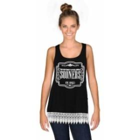 Gameday Couture ゲームデイ コーチャー スポーツ用品  Oklahoma Sooners Womens Black Crochet Trink Tank Top