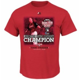 Majestic マジェスティック スポーツ用品  Majestic Todd Frazier Cincinnati Reds Red Youth Home Run Derby Champion T-