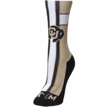 Rock Em ロックイーエム スポーツ用品 Colorado Buffaloes Womens Jersey Crew Socks