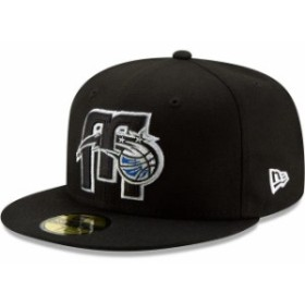 New Era ニュー エラ スポーツ用品  New Era Orlando Magic Black Team Logo Back Half Series 59FIFTY Fitted Hat
