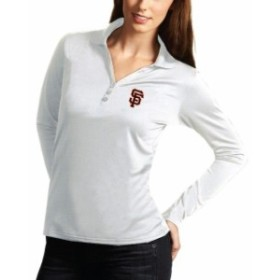 Antigua アンティグア シャツ ポロシャツ Antigua San Francisco Giants Womens White Desert Dry Xtra Lite Exceed Long