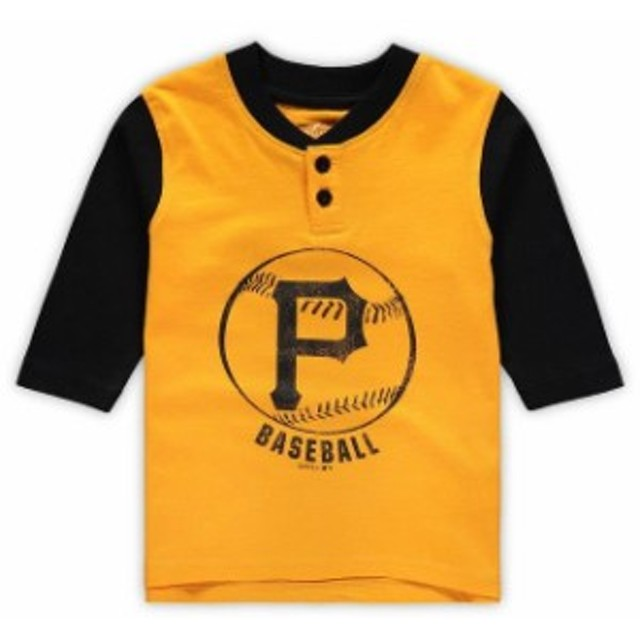 Outerstuff アウタースタッフ スポーツ用品  Pittsburgh Pirates Toddler Yellow/Black Legacy Henley 3/4-Sleeve T-Shirt