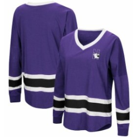 Colosseum コロセウム スポーツ用品  Colosseum Northwestern Wildcats Womens Purple Marquee Players Oversized Long Sleev