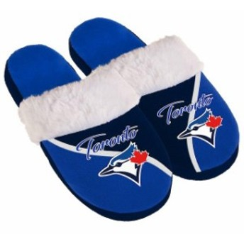 Forever Collectibles フォーエバー コレクティブル シューズ スリッパ Toronto Blue Jays Womens Cursive Colorbl