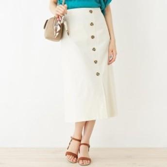 グローブ(grove)/リネン調ボタンAラインスカート