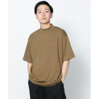 SENSE OF PLACE(センスオブプレイス) トップス Tシャツ・カットソー ポンチモックネックTシャツ(5分袖)