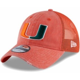 New Era ニュー エラ スポーツ用品  New Era Miami Hurricanes Orange Tonal Washed Trucker 2 9TWENTY Snapback Hat