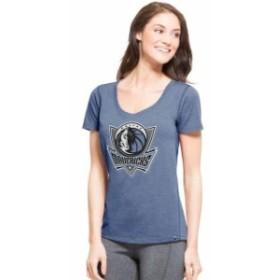47 フォーティーセブン スポーツ用品  47 Dallas Mavericks Womens Blue Shift High Point Ribbed T-Shirt