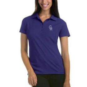 Antigua アンティグア スポーツ用品  Antigua Colorado Rockies Womens Purple Pique Xtra-Lite Polo