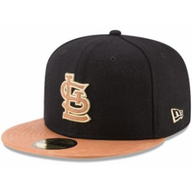 New Era ニュー エラ 服  New Era St. Louis Cardinals Black/Natural Wilson Collaboration 59FIFTY Fitted Hat