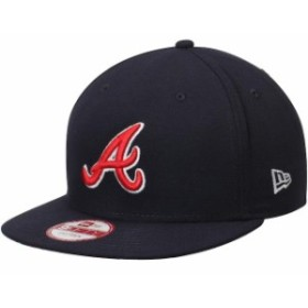 New Era ニュー エラ スポーツ用品  New Era Atlanta Braves Navy Sneak Peek 9FIFTY Adjustable Hat