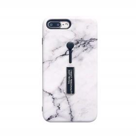 【送料無料】大理石 天然石 落下防止 バンカーリング スタンド スマホケース カバー iPhone6/6s 6/6sPlus iPhone7/8 7/8Plus iphoneX 2色