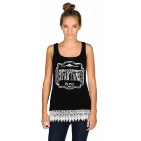 Gameday Couture ゲームデイ コーチャー スポーツ用品  Michigan State Spartans Womens Black Crochet Trink Tank Top