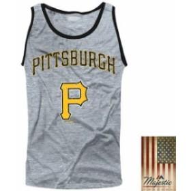 Majestic Threads マジェスティック スレッド 服 タンクトップ Majestic Threads Pittsburgh Pirates Gray Tri-Blend