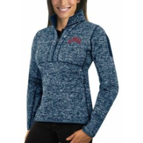 Antigua アンティグア スポーツ用品  Antigua Loyola Marymount Lions Womens Navy Fortune Half-Zip Pullover Sweater
