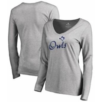 Fanatics Branded ファナティクス ブランド スポーツ用品 Rice Owls Womens Ash Dora Long Sleeve T-Shirt